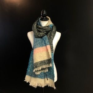 Express soft scarf wrap Nwt pink blue